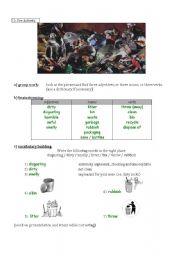 English Worksheet: the third step of the lesson plan on recycling