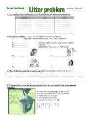 English Worksheet: The third step of a lesson plan on recycling (worksheet)
