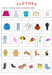 English Worksheet: Clothes & physical description