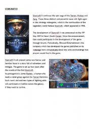 English Worksheets: Starcraft II