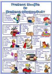 English Worksheet: present continuous vs. present simple