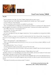 dead poets society comprehension sheet