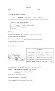 English worksheet: Adverbs of time exercises