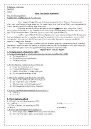 English Worksheets: what is peace?