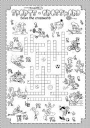 English Worksheet: Sports - Crossword