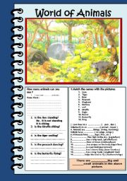 English Worksheets: World of animals