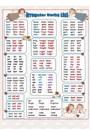 English Worksheet:  Irregular Verbs - Past Simple   ( 4 pages)