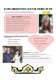 English Worksheets: Kate Middleton : Royal bride  VIDEO