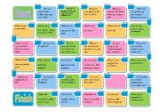 multiple verb-tense board game