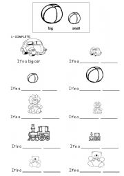 English Worksheet: big and small