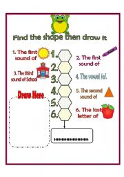 English Worksheets: Find the secret word