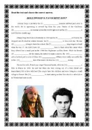 English Worksheet: Hollywood´s favourite son?