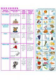 English Worksheet: FOOD GROUPS-MATCHING-