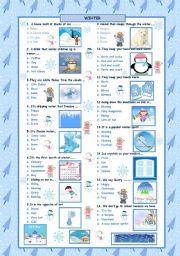 English Worksheets: Winter Quiz!