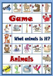 English Worksheets: game animals