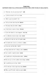 English Worksheets: Repharsing