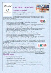 English worksheet: English: a world - global language