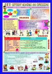 English Worksheets: GET- DIFFERENT MEANINGS AND EXPRESSIONS