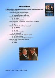 English Worksheets: meet joe black (movie)