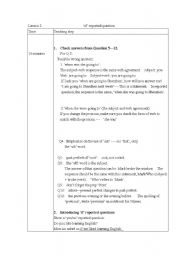 English Worksheets: report �yes/no� question