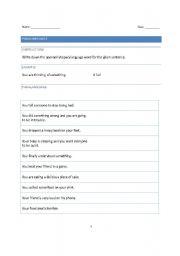 English Worksheets: Paralanguage worksheet (Lower level)