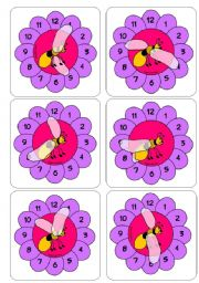 English Worksheet: Telling the Time with Lee the Bee. More Time/clock flashcards.