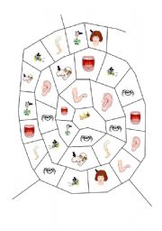 English Worksheet: Parts of the Body Spiders Web Game