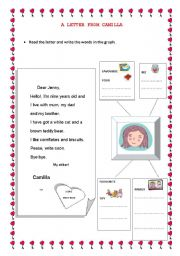 English Worksheets: A letter from Camilla