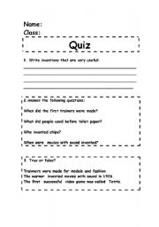 English Worksheets: complement to the power point
