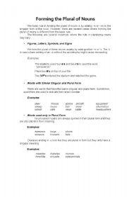 English Worksheets: pluralizing nouns