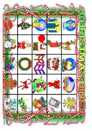 Christmas Bingo board 1-2 (of 10)  and  Calling Cards 1-16 (of 24)