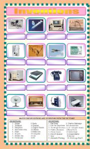 Inventors and Inventions - ESL worksheet by turac