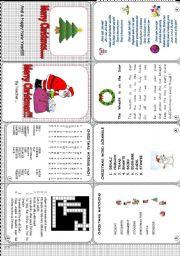 English Worksheet: Christmas Mini Book
