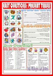 English Worksheets: Easy questions: Present tenses