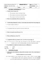 English Worksheet: Mid term test for fourth formers