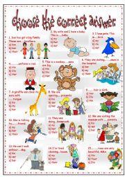 English Worksheet: possessive pronouns