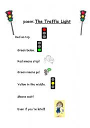 Traffic lights worksheets