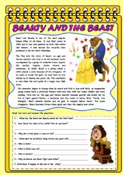Beauty and The Beast Short Story With Pictures