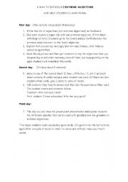 English Worksheet: gradable and non-gradable adjectives-lesson plan and activity cards