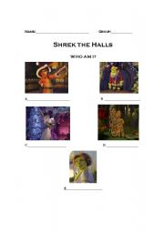 English Worksheet: Shrek The Halls