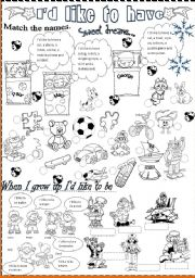 English Worksheets: I�d like to
