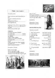 English Worksheet: Fame version sung by Naturi Naughton  with KEY