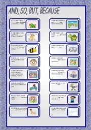 English Worksheets: AND ,SO, BUT, BECAUSE