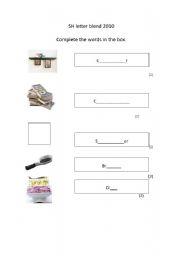English Worksheets: Sh blends