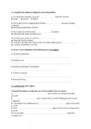 English Worksheets: Business worksheet