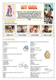 English Worksheets: Movie Time: My Girl