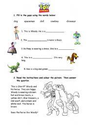 English Worksheet: Toy Story worksheet