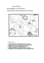 English Worksheets: To the zoo