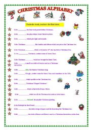 CHRISTMAS ALPHABET (fully editable & the key)