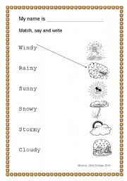 English teaching worksheets  The weatherWeather Map For Kids Worksheets